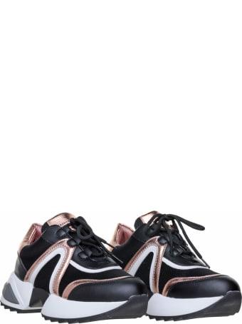 Alexander Smith London Alexander Smith Marble Black Sneakers