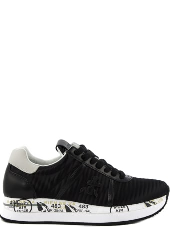 Premiata Conny Sneaker In Black Fabric