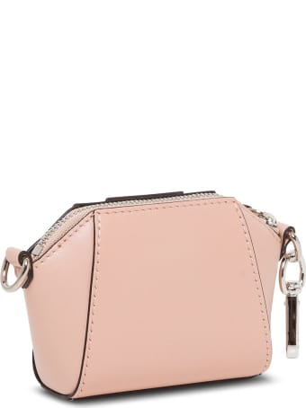 Givenchy Antigona Mini Bag In Leather With Chain Shoulder Strap