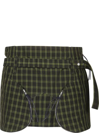 Charlotte Knowles Checked Mini Skirt
