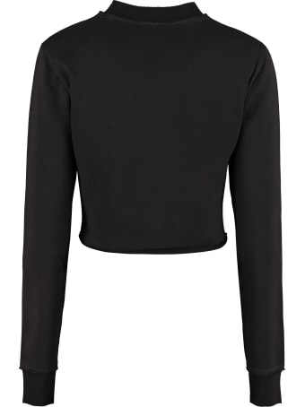 Balmain Logo Detail Cotton Sweatshirt