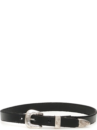 R13 Leather Choker Necklace