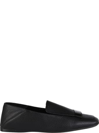 Sergio Rossi Black Leather Sr1 Loafers