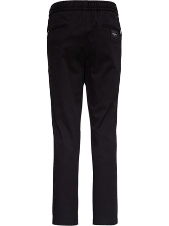Dolce & Gabbana Black Trousers In Technical Fabric