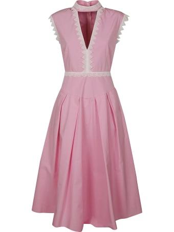 MSGM V-neck Sleeveless Flared Dress