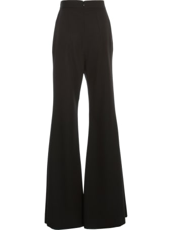 Balmain Pants Flared High Waist Grain De Poudre