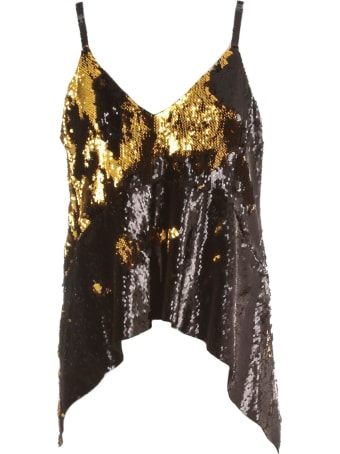 Marques'Almeida Top This Straps Sequin W/draped Hem