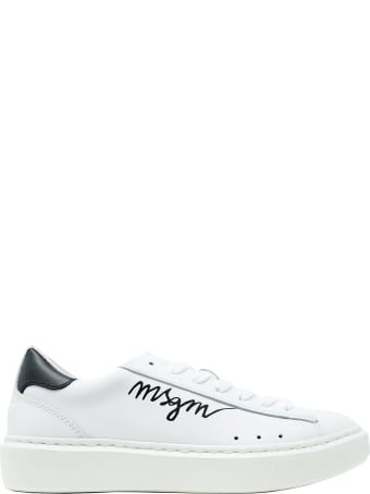 Philippe Model Msgm White Leather Sneakers
