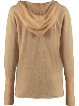 Mes Demoiselles Hooded Kid Mohair Blend Sweater