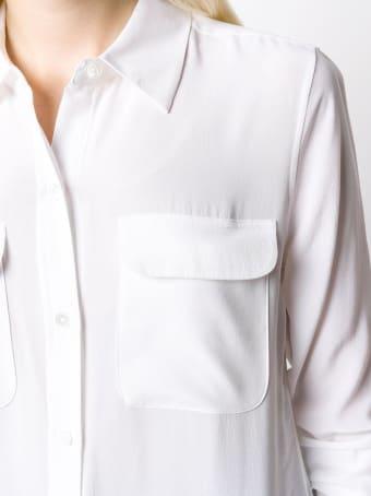 Equipment White Silk Shirt