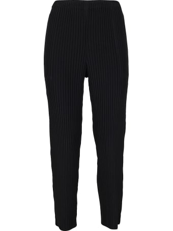 Issey Miyake Black Tapered Trousers