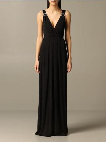 Just Cavalli Dress Long Just Cavalli Dress With Metal Rings