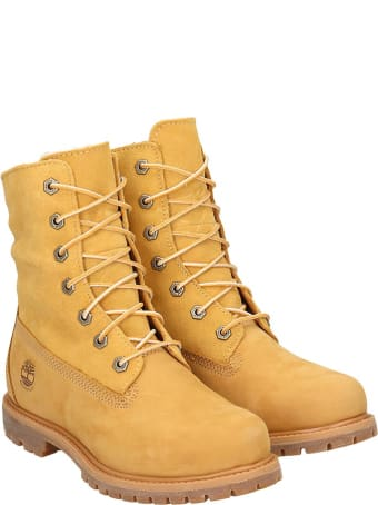 Timberland Auth Teddy Combat Boots In Leather Color Suede