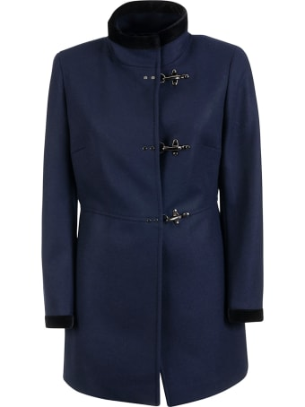 Fay Velvet Trim Coat