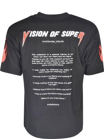 Vision of Super Sleeve Print T-shirt