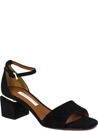 Roberto Festa Black Apice Suede Sandals