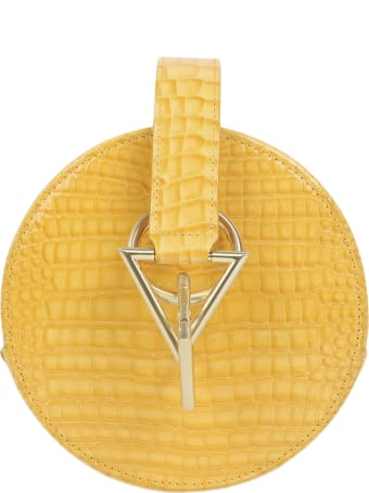 Tara Zadeh Yellow Croco Azar Bag