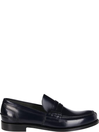Church's Blue Leather Loafers