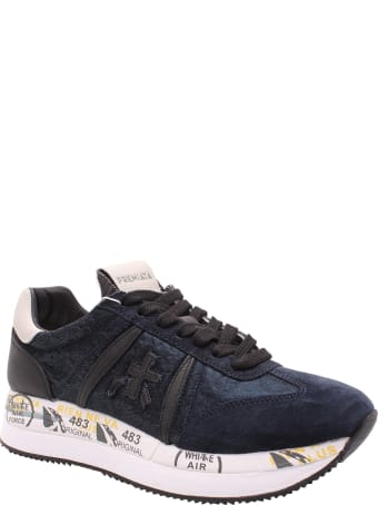 Premiata 'conny 1491' Leather Sneakers
