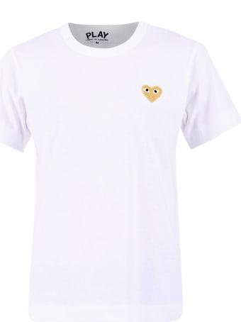 Comme des Garçons Play Embroidered Cotton T-shirt