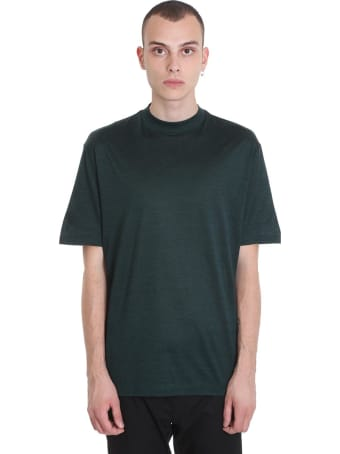 Lanvin T-shirt In Green Cotton