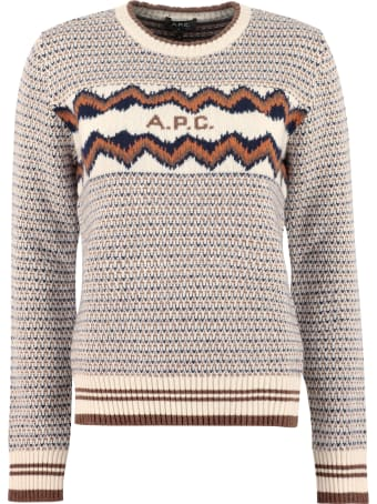 A.P.C. Adele Wool Crew-neck Pullover