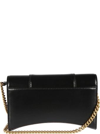 Balenciaga Logo Plaque Chain Strap Shoulder Bag