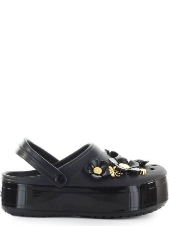Crocs Metallic Blooms Black Platform Crocband Clog