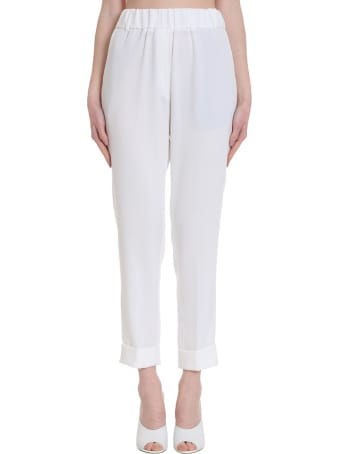 Brag-Wette Pants In White Tech/synthetic