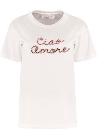 Giada Benincasa Embellished Cotton T-shirt