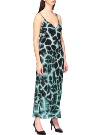 Roberto Cavalli Dress Roberto Cavalli Dress With Silk Braces With Giraffe Print