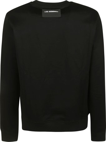 Les Hommes Contrast Front Panel Sweatshirt
