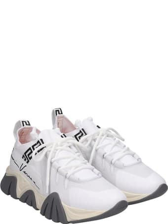 Versace Squalo Sneakers In White Tech/synthetic