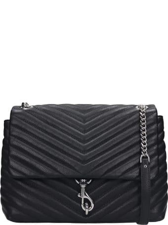 Rebecca Minkoff Edie Flap Shoulder Bag In Black Leather