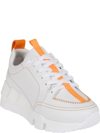 Pierre Hardy White Leather Sneakers