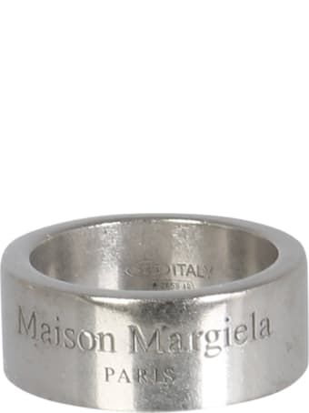 Maison Margiela Band Ring With Logo