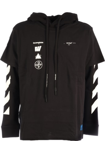 Off-White Diag Mariana Double Tee Hood