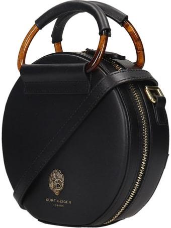 Kurt Geiger Harriet Mini Ro Hand Bag In Black Leather