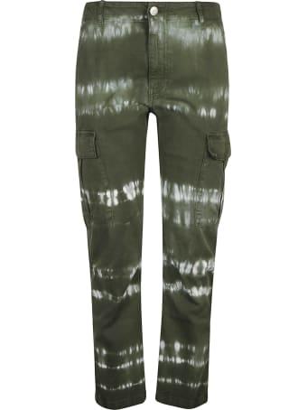 Parosh Paint Effect Cargo Trousers
