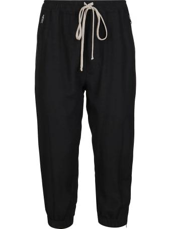 Rick Owens Black Wool-blend Trousers