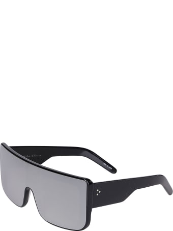 Rick Owens Black Mirrored Sunglasses