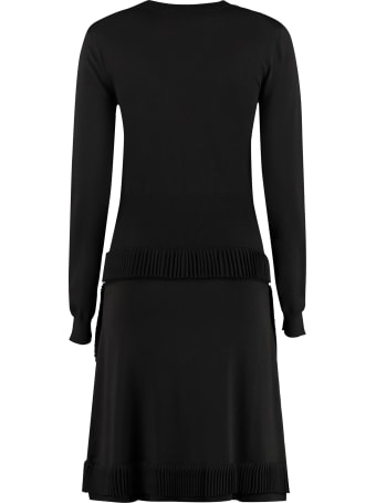 Boutique Moschino Dress With Pleated Details And Bow