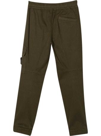 Stone Island Junior Green Trousers