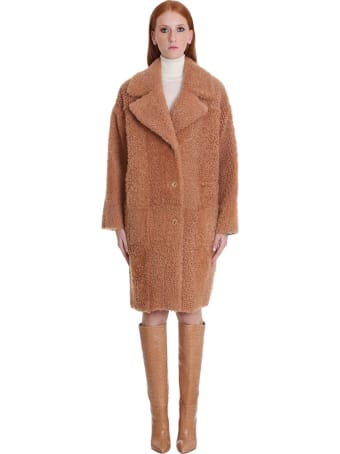 DROMe Coat In Rose-pink Leather