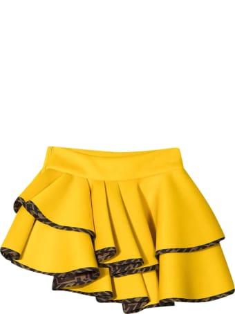 Fendi Yellow Skirt