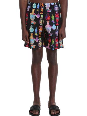 Versace Beachwear In Black Polyamide