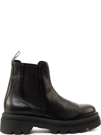 Voile Blanche Black Leather Boots