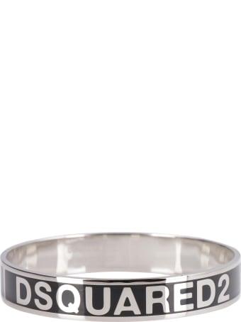 Dsquared2 Enamelled Logo Brass Bracelet