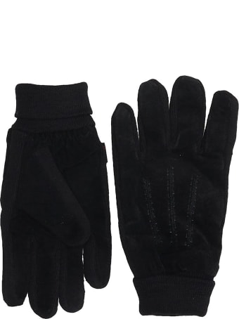 Schott Gl482 Gloves In Black Wool