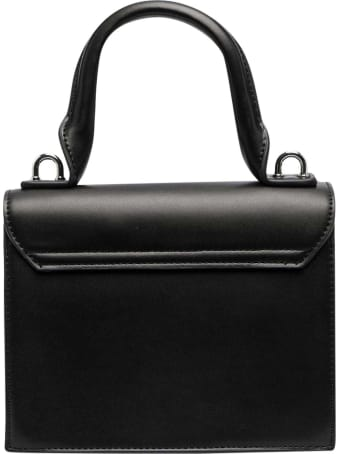 MSGM Black Shoulder Bag With Application